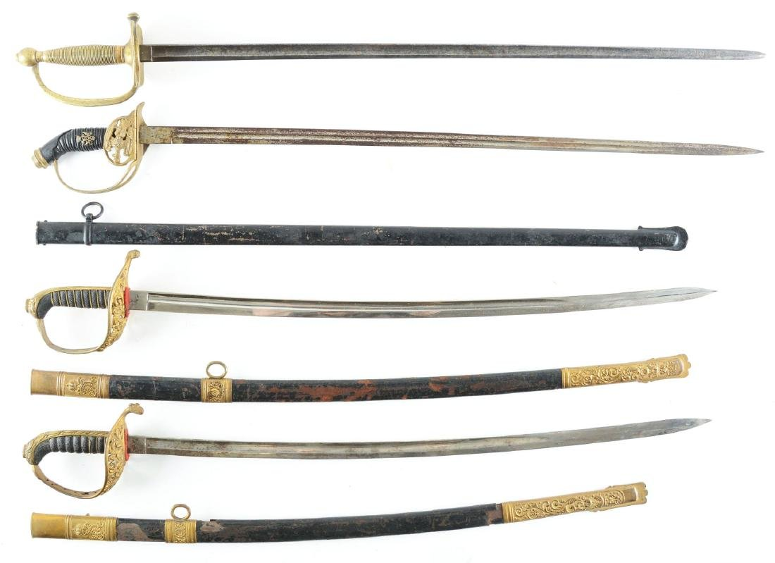 LOT OF 4: ONE MODEL 1840 NCO SWORD, ONE PRUSSIAN MODEL