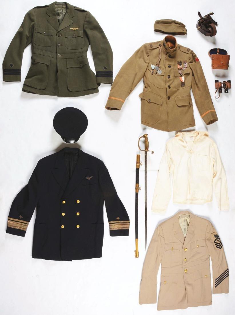 Lot of 9: World War II Period US Navy And Coast Guard
