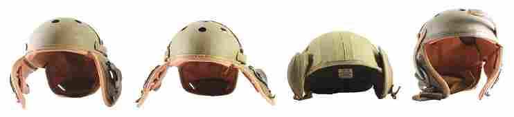 Lot Of 4 US World War II Tankers And Flak Helmets