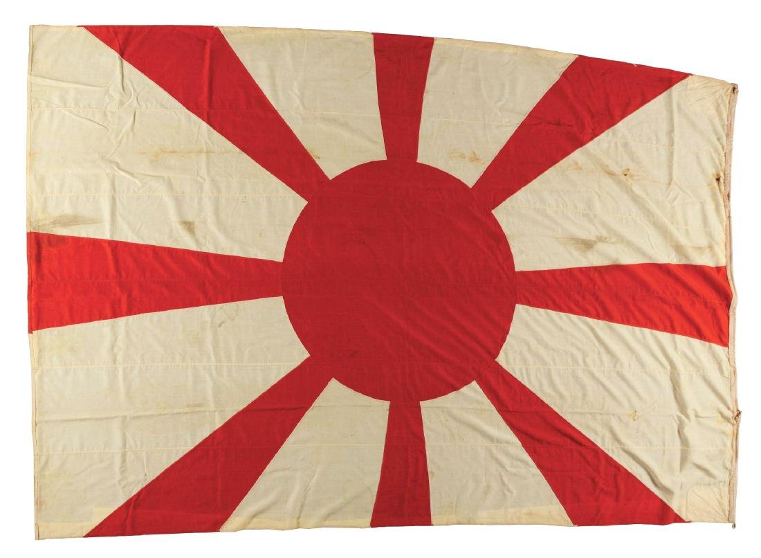 A Rare and Historic Japanese Flag, Flown from the Mast