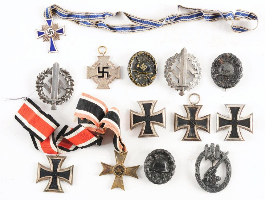 LOT OF 13: IMPERIAL GERMAN AND THIRD REICH MEDALS.