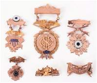 Lot Of 6: Shooting & Riding Medals.