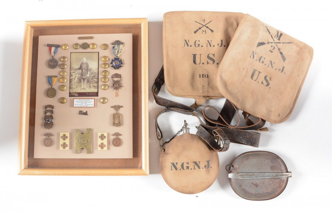 LOT OF 5: DISPLAY CASE OF MEDALS RELATED TO THE NEW
