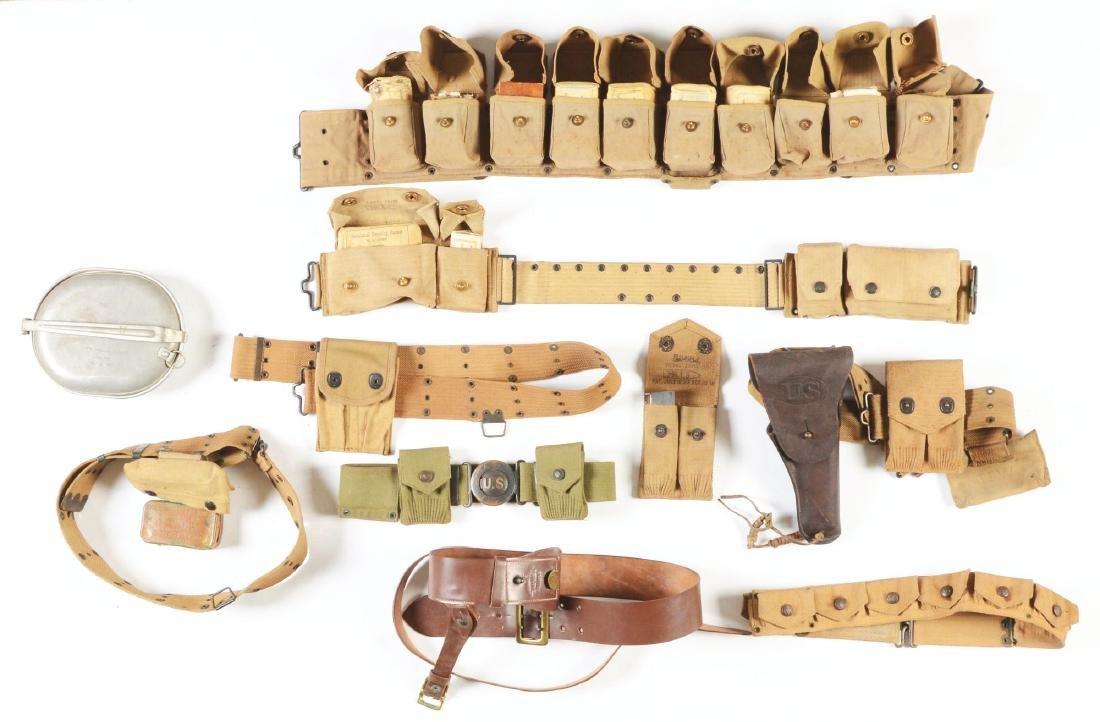Lot of 10: U.S. World War I Period Belts And