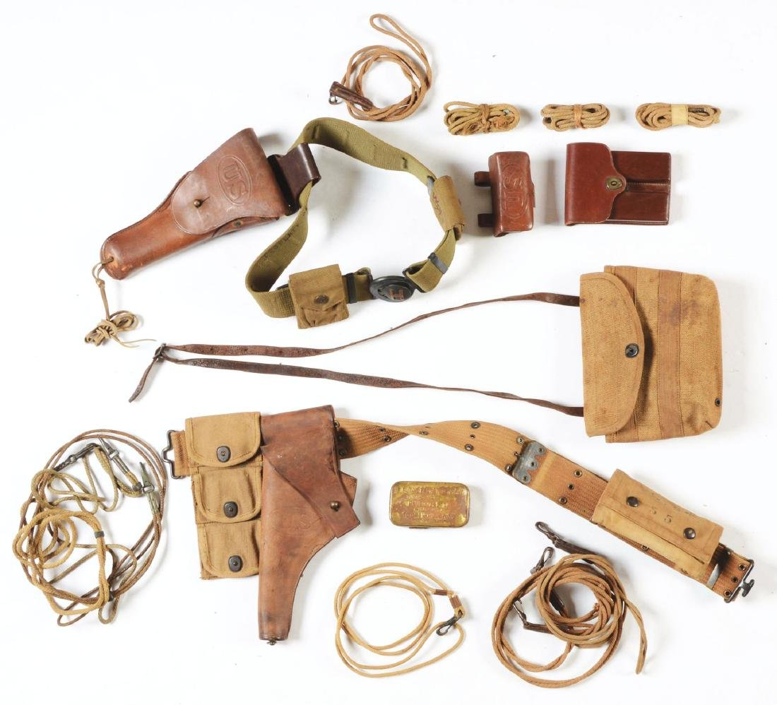 Lot Of 16: Early 20th Century U.S. Army Holsters,