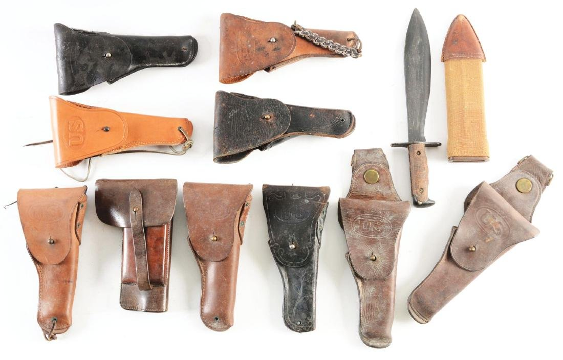 Lot Of 12: U.S. Army Leather Holsters And Model 1917