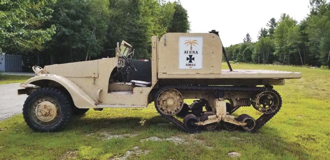 Sought After WWII US Military White Model M2 Half-Track