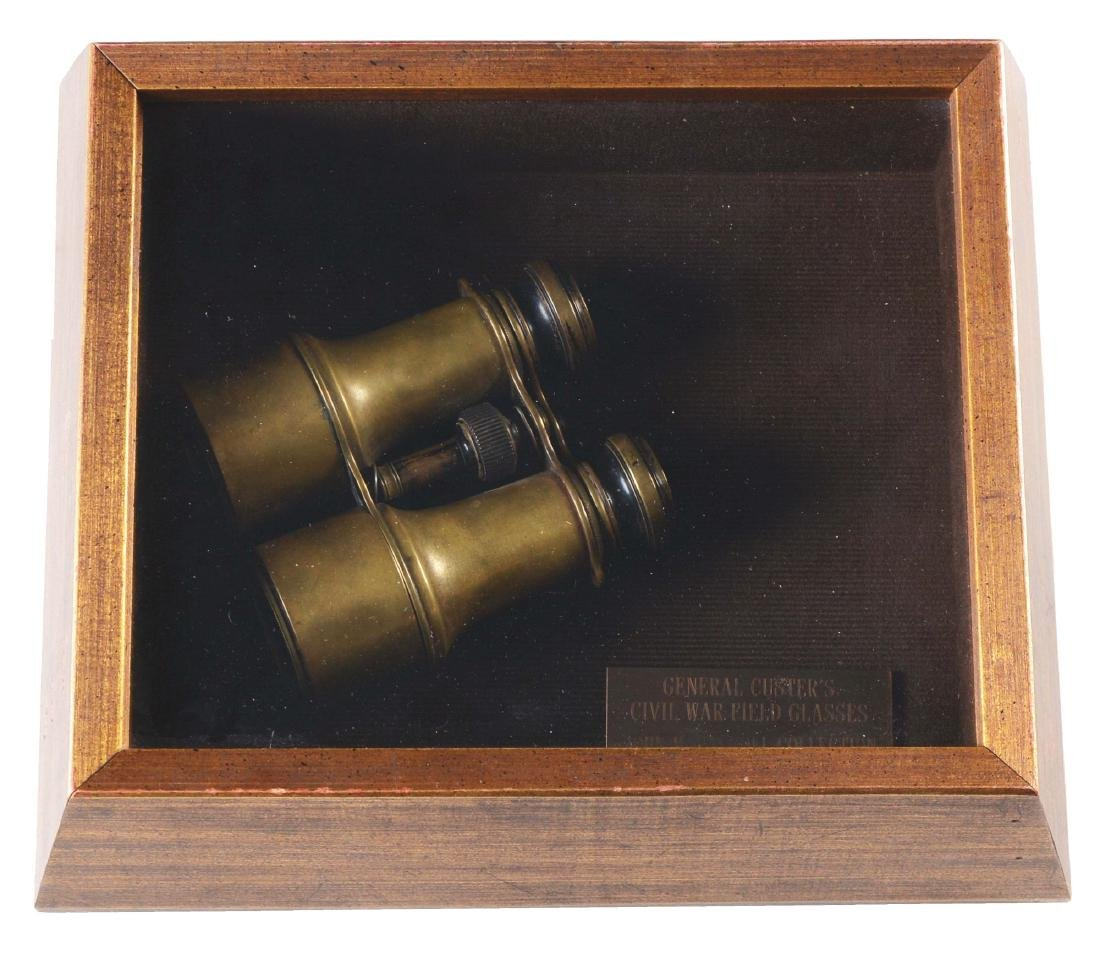 CUSTER'S CIVIL WAR FIELD GLASSES CAPTURED AT BATTLE OF