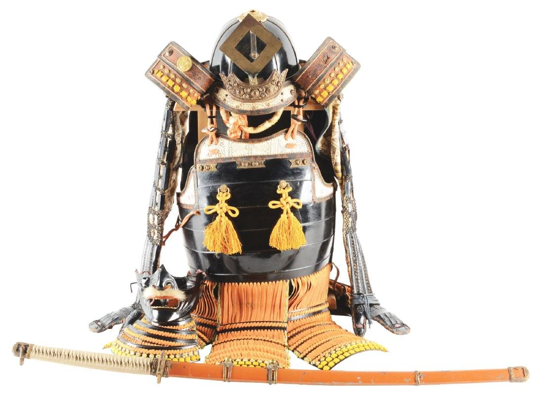 A COMPLETE 20TH CENTURY SUIT OF JAPANESE SAMURAI ARMOR