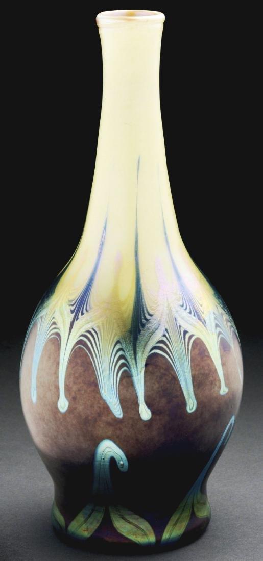 Tiffany Favrile Hooked-Feather Vase.