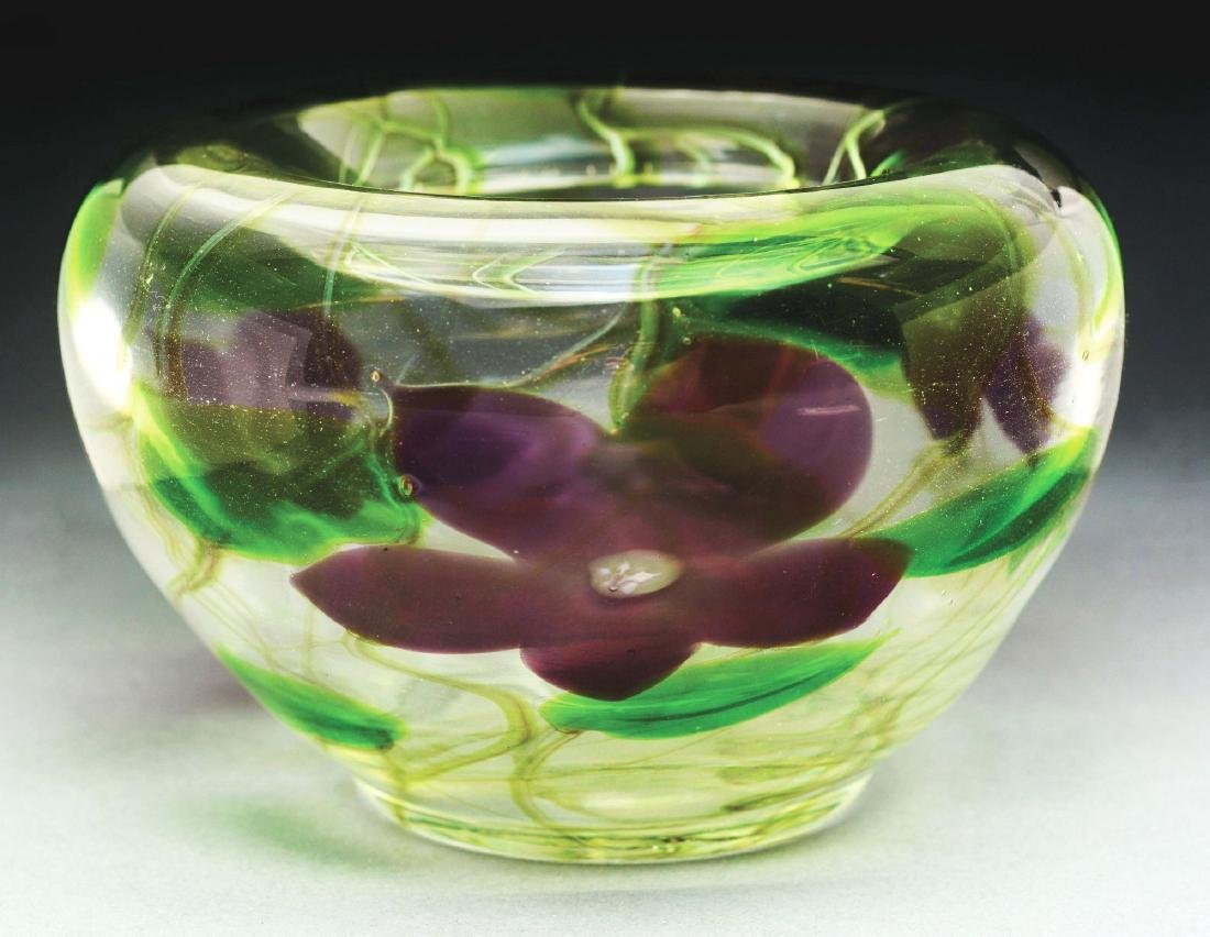 Tiffany Paperweight Floral Vase.