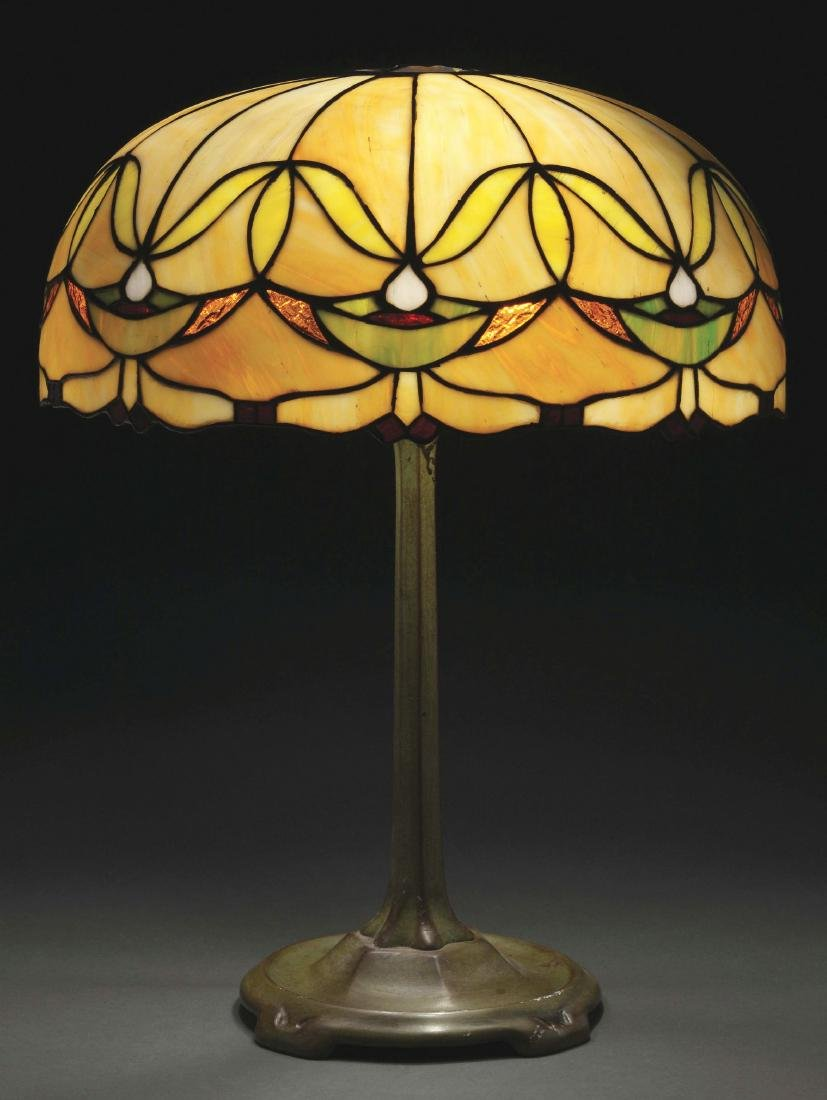 American Leaded Glass Table Lamp.
