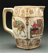 Buffalo Pottery, Ceramic Roosevelt Bears Pitcher.