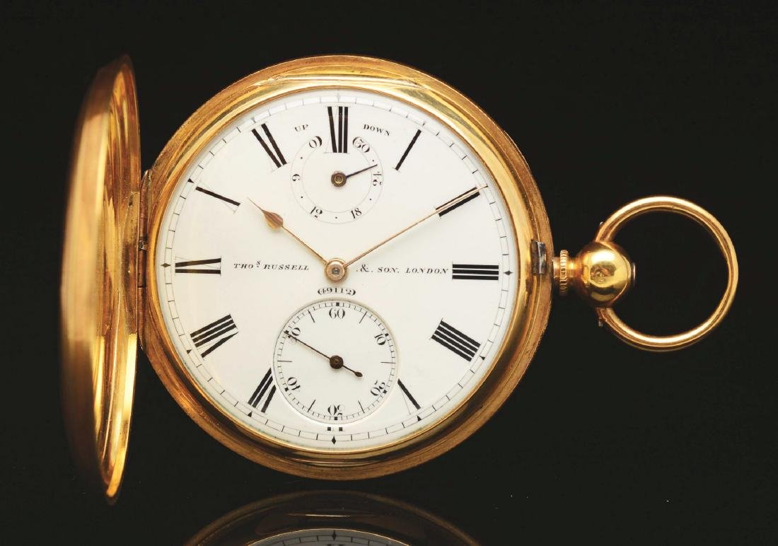 18K Gold Russell & Son, London H/C Pocket Watch.