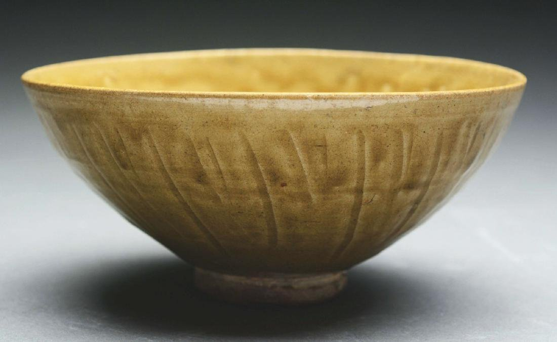 Celadon Glazed Pottery Footed Bowl.