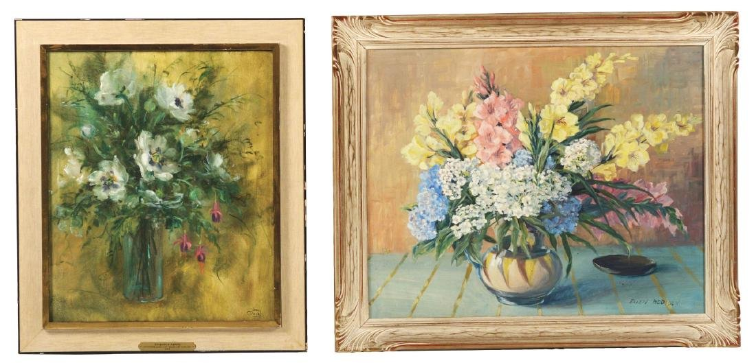 TWO CONTEMPORARY AMERICAN STILL LIFES.