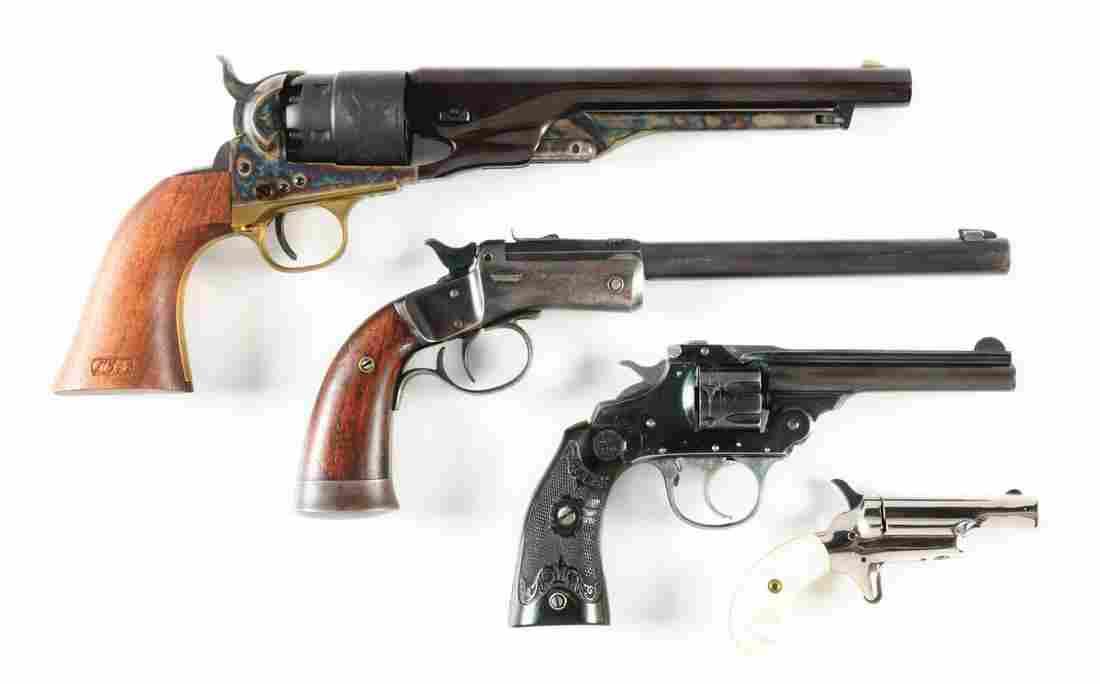 (A+C+M) LOT OF 4: ASSORTED HANDGUNS.