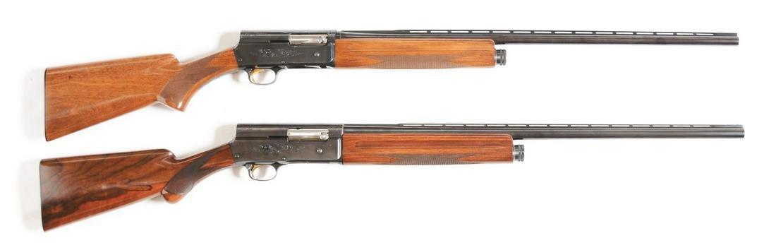 (C) LOT OF TWO: TWO BELGIAN A-5 LIGHTWEIGHT SHOTGUNS -