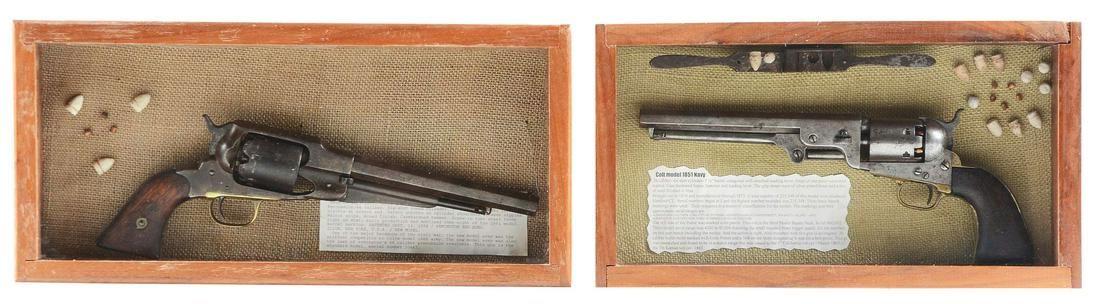 (A) ORIGINAL COLT 1851 NAVY & REMINGTON 1858 ARMY