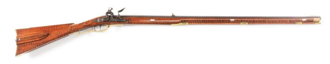 (A) D. PRICE CONTEMPORARY FLINTLOCK RIFLE.