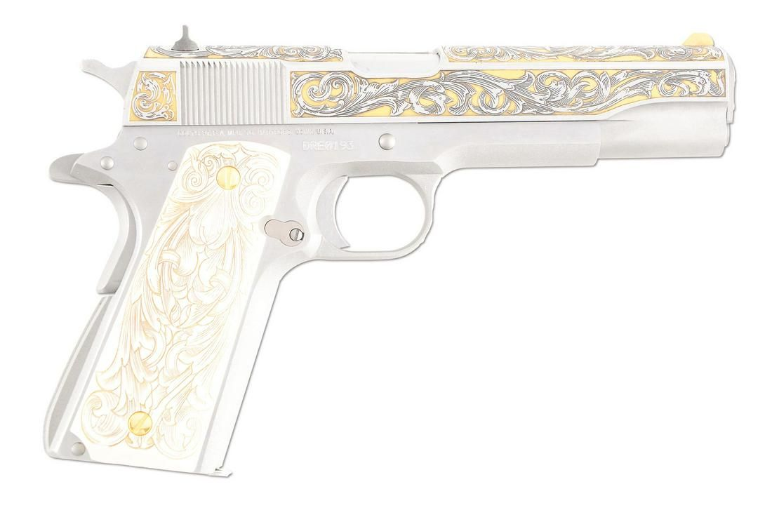 (M) BOXED COLT GOVERNMENT SERIES 70 ENGRAVED 1911-A1.