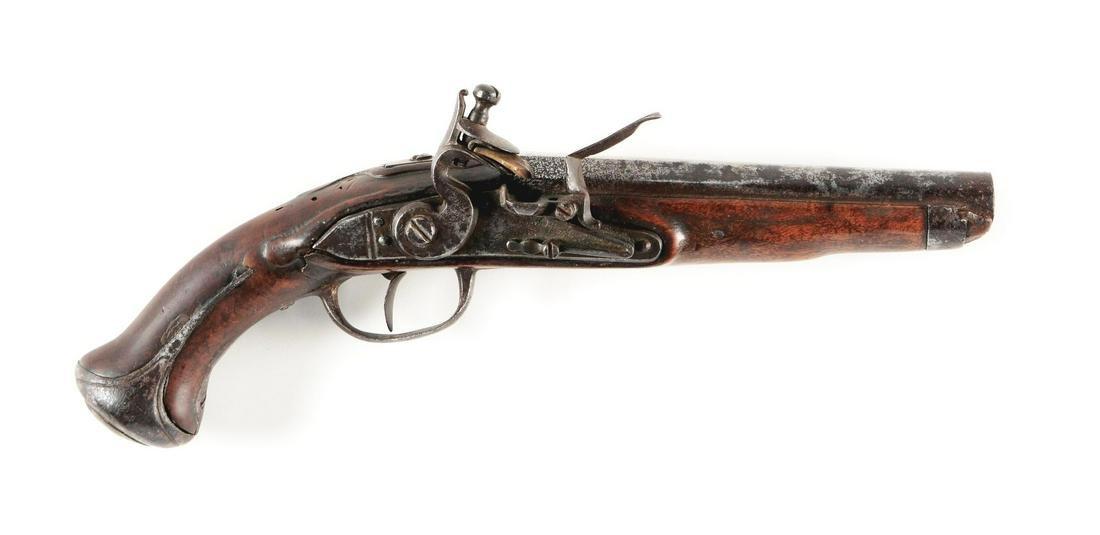(A) AUSTRIAN MODEL 1770 FLINTLOCK CAVALRY PISTOL.