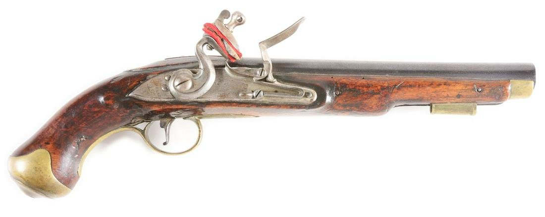 (A) A GOOD BRITISH FLINTLOCK LIGHT DRAGOON PISTOL, LOCK