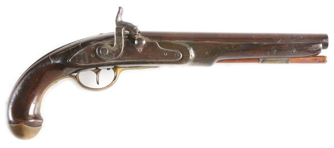 (A) RARE US MARTIAL FLINTLOCK MODEL 1808 NAVAL PISTOL.