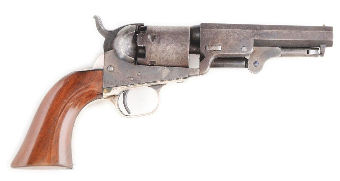 (A) CASED COLT MODEL 1849 PERCUSSION REVOLVER (1855).