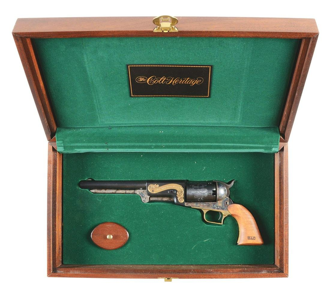 (A) DELUXE COLT 1847 DRAGOON HERITAGE CASED SET WITH