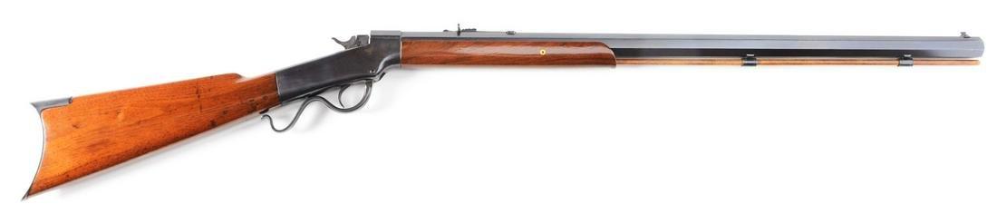 (A) MARLIN BALLARD PACIFIC MODEL SINGLE SHOT RIFLE.