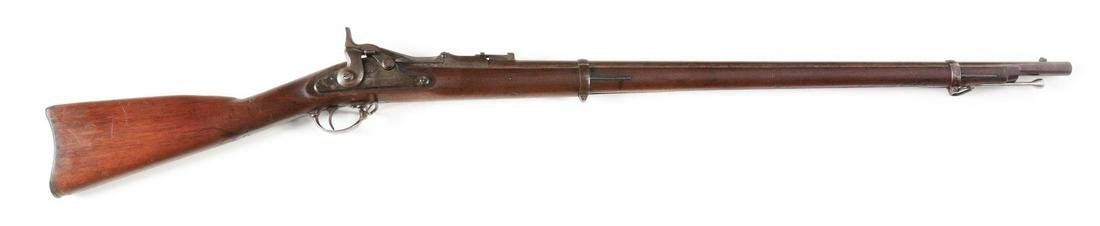 (A) SPRINGFIELD MODEL 1870 .50-70 TRAPDOOR RIFLE.