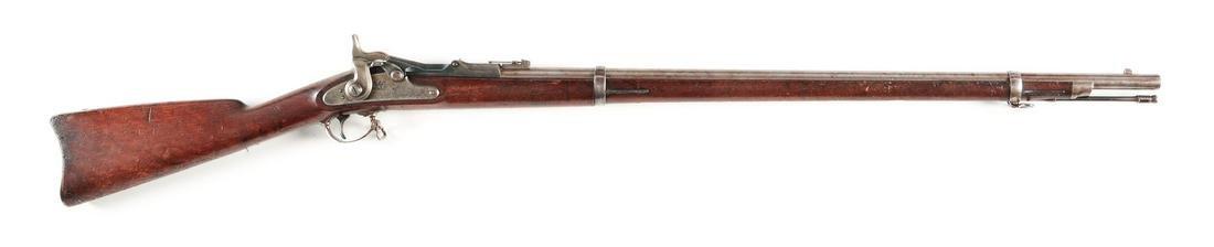 (A) US MODEL 1868 SPRINGFIELD TRAPDOOR RIFLE.