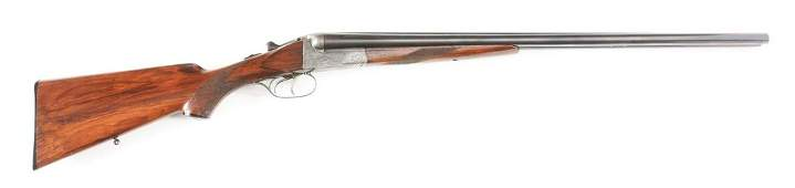 C JP SAUER BOXLOCK SIDE BY SIDE SHOTGUN