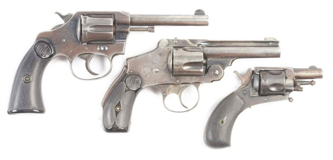 (C+A)LOT OF THREE: THREE REVOLVERS FROM COLT, SMITH AND