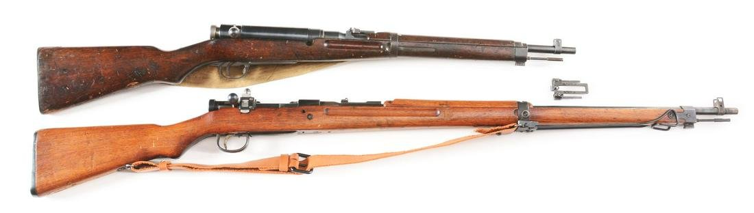 (C) LOT OF 2: JAPANESE TYPE 38 & TYPE 99 BOLT ACTION