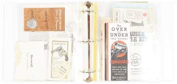 LARGE LOT OF MISCELLANEOUS FIREARMS BROCHURES,