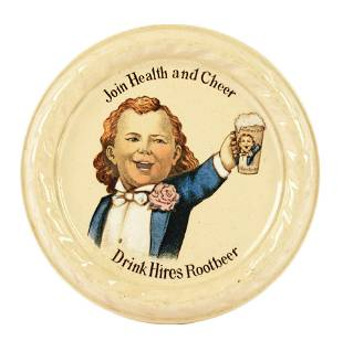 Circa 1900 Hires Root Beer Stoneware Coaster.