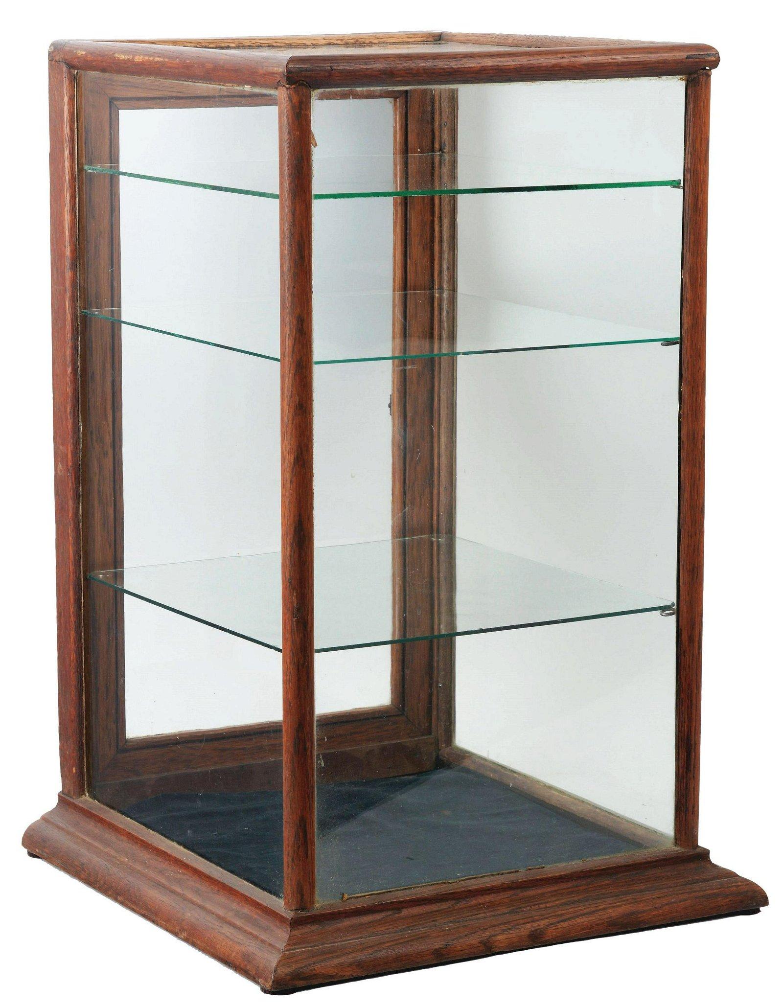 Glass Display Case.