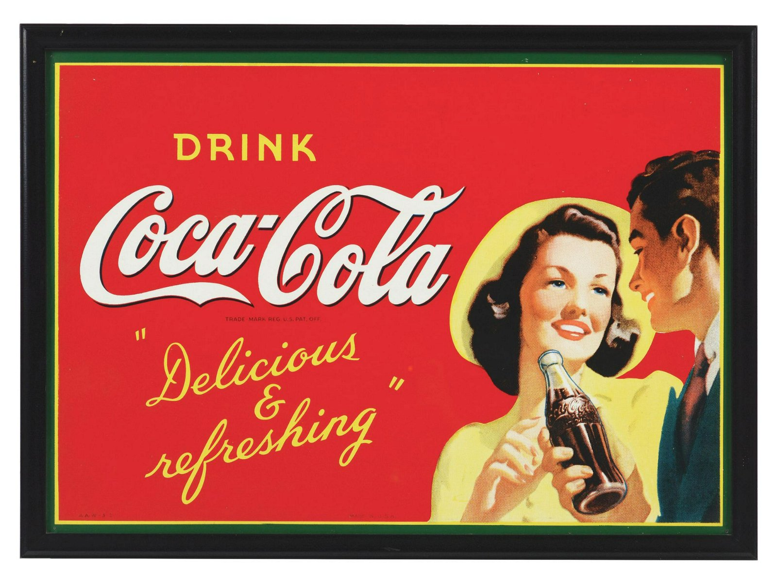 1942 Coca-Cola Tin Sign.