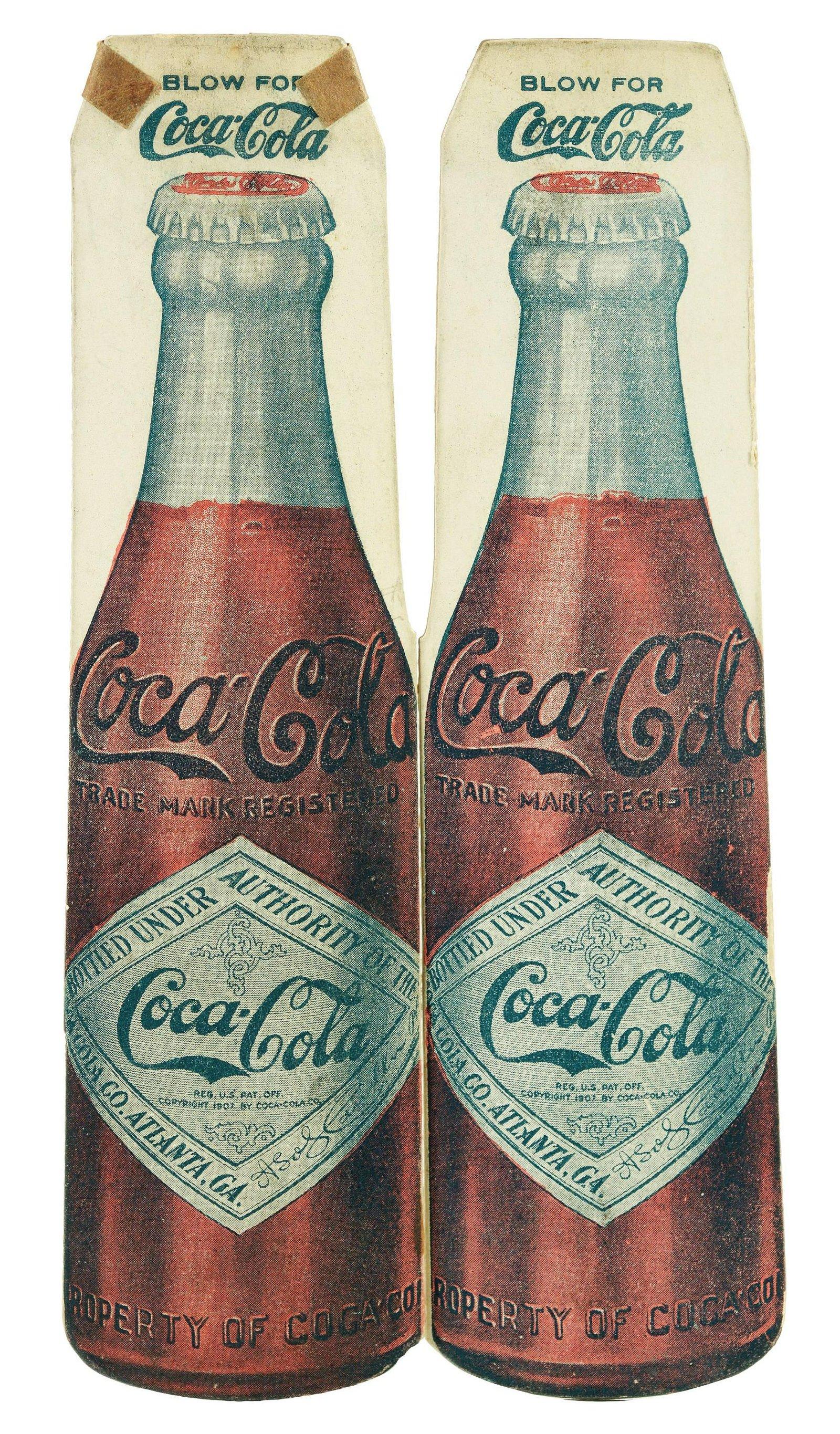 Circa 1910 - 1915 Coca-Cola Cardboard Whistle.