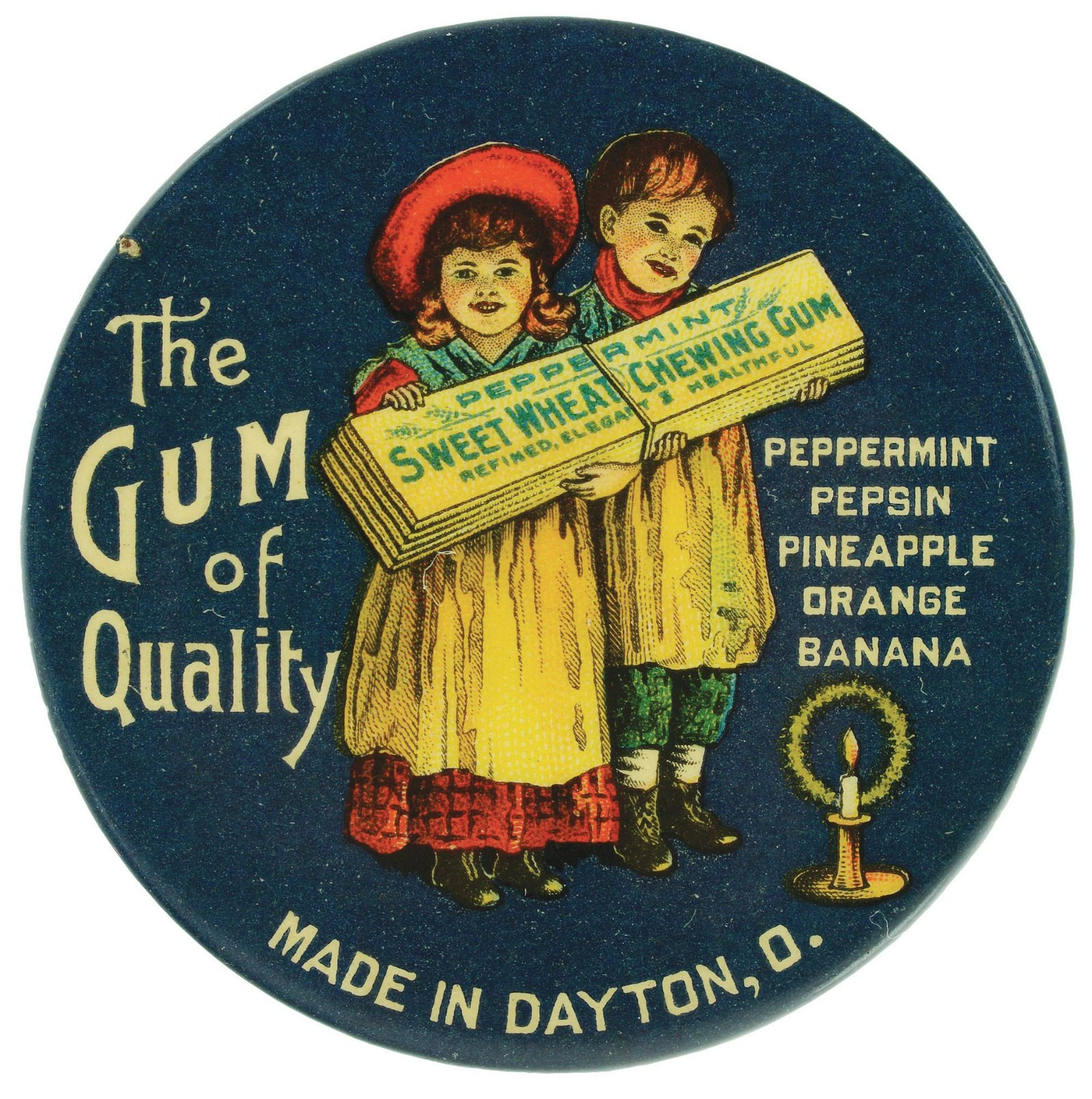 Sweet Wheat Chewing Gum Early Pocket Mirror.