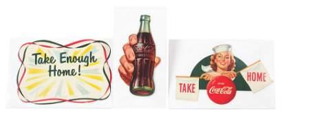 1952 CocaCola SixPack Carton Display Components