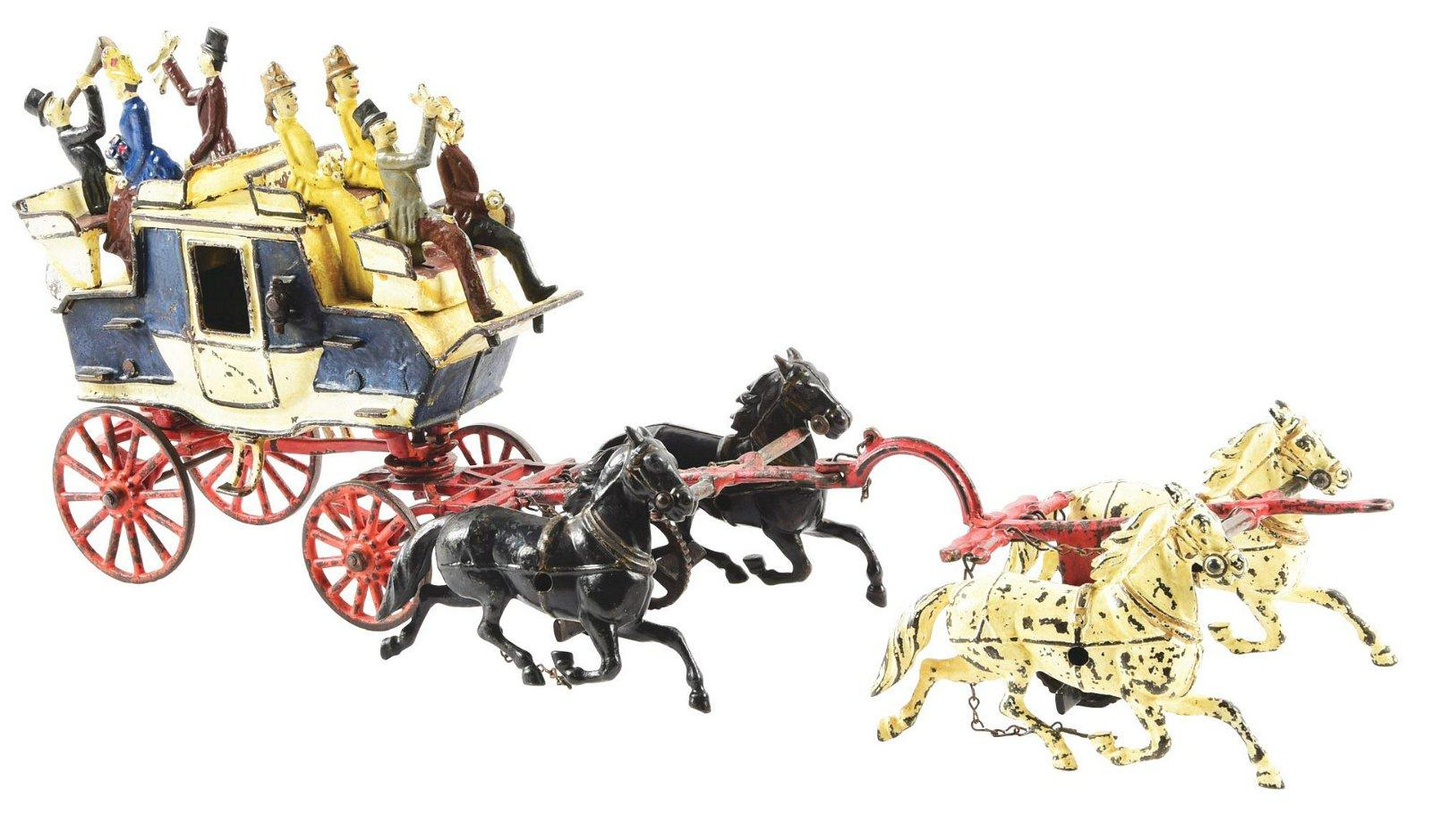 Carpenter Cast-Iron Horse Drawn Tally Ho.