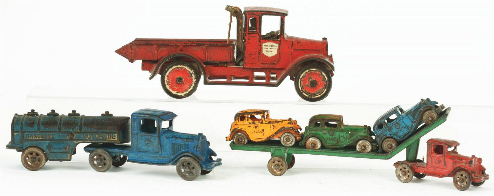 Lot of 3: American Made Cast-Iron Vehicle Toys.