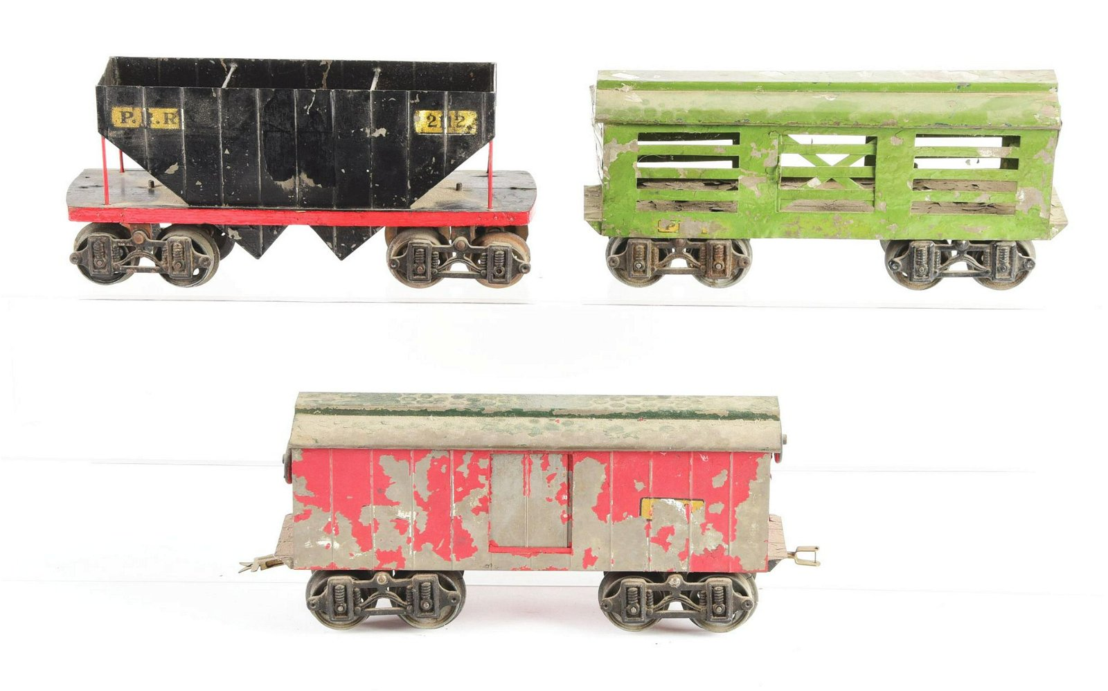 Lot of 3: Early Voltamp Freight Cars.