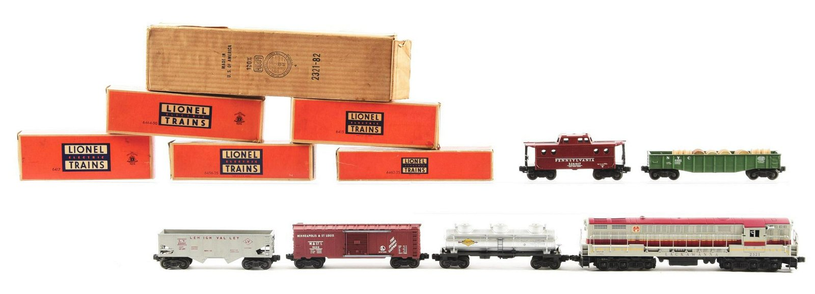 Lionel Train 2219W Lackawanna Diesel Set.