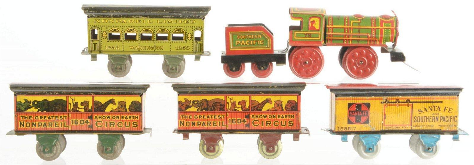 Set of 5: Nonpariel Train Set.