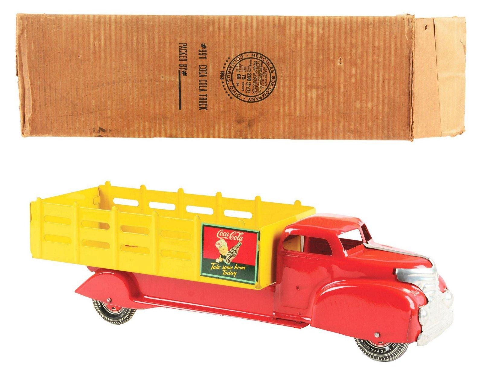Marx Pressed Steel Coca-Cola Toy Truck.