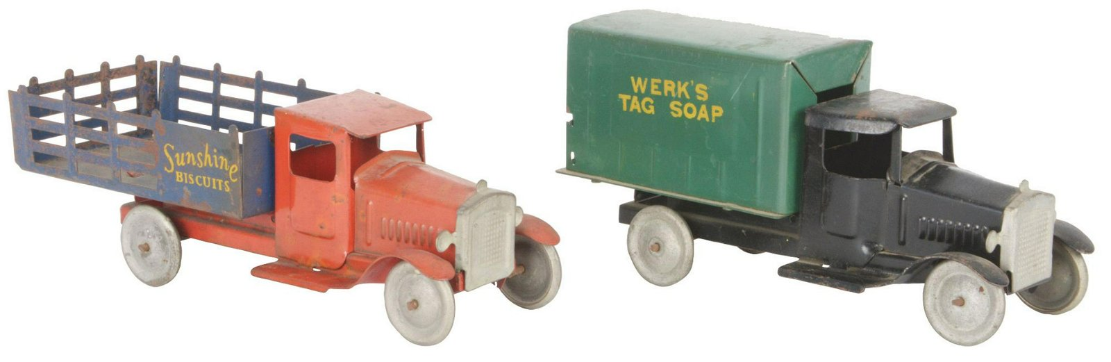 Lot of 2: Pressed Steel Metalcraft Advertising Trucks.